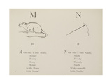 Mouse and Needle Illustrations and Verse From Nonsense Alphabets by Edward Lear