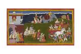 Rama and Lakshmana Embrace
