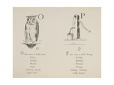 Owl and Pump Illustrations and Verses From Nonsense Alphabets Drawn and Written by Edward Lear