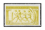 A Group Of Athletes Running Greece 1906 Olympic Games 3 Drachma  Unused