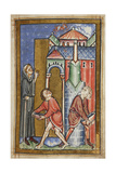 Miniature Of Cuthbert Extinguishing a Fire Set by a Demon