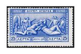 Hercules and Antaeus Greece 1906 Olympic Games 25 Lepta  Unused