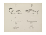 Eel and Fish Illustrations and Verse From Nonsense Alphabets by Edward Lear