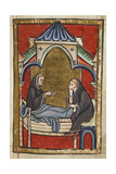 The Dying Boisil Instructs St Cuthbert  and Prophesies Things Which Were To Come To Him