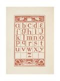 An Alphabet Table For 'The Golden Primer'