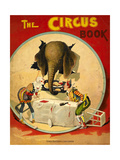 An Amusing Cover Showing an Elephant Taking a Meal From Two Clowns