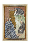 Miniature Of Cuthbert Praying in the Sea