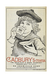 Advertisement For Cadbury's Cocoa Depicting a Child Drinking Cocoa From a Tea Cup and Saucer