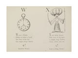 Watch and King Xerxes Illustrations and Verse From Nonsense Alphabets by Edward Lear