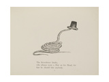 Snake Wearing a Hat From a Collection Of Poems and Songs by Edward Lear