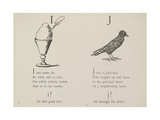 Ice-cream and Jackdaw Illustrations and Verse From Nonsense Alphabets by Edward Lear