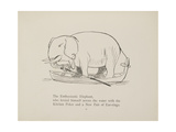 Elephant in Row Boat From a Collection Of Poems and Songs by Edward Lear