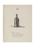 Bottle Illustrations and Verse From Nonsense Alphabets by Edward Lear