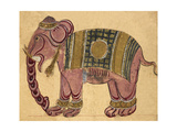 Elephant Wearing a Caparison