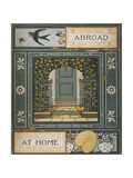 Back Cover Of 'Abroad' Coloured Illustration Showing a Door