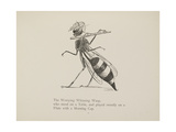 Wasp Playing the Flute From a Collection Of Poems and Songs by Edward Lear