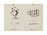 Urn and Villa Illustrations and Verse From Nonsense Alphabets by Edward Lear