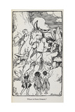 Illustration From a Midsummer Night's Dream With Fairies and a Man With an Ass's Head