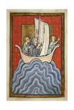 St Cuthbert and Two Of the Brethren Sail To the Land Of the Picts