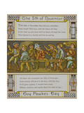 The 5th Of November Guy Fawkes Day a Group Of Boys With a Guy Illustration From London Town'