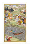 Babur Standing On the Banks Of the Ganges Where He Flung Himself When His Horse Lost Its Footing