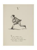 Villain Illustrations and Verse From Nonsense Alphabets by Edward Lear