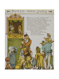 Punch and Judy Children Watching a Punch and Judy Show Illustration From London Town'
