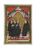 Monks Urge St Cuthbert To Accept the Bishopric Of Lindisfarne