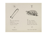 Sugar-tongues and Tortoise From Nonsense Alphabets Drawn and Written by Edward Lear