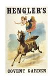 Convent Garden  London Hengler's Grand Cirque  C 1888 Woman Dancing On Horseback