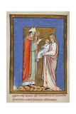 Miniature Of Cuthbert Healing a Child Ill With the Plague