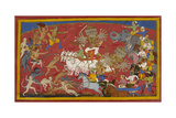 Ravana Fights Rama and Laksmana