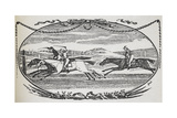 Engraving Of a Horse Race