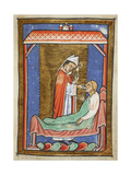 Miniature Of Cuthbert Healing an Ill Man