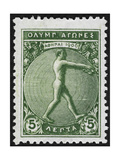 An Athlete Jumping Greece 1906 Olympic Games 5 Lepta  Unused