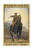 """Forward !"" Forward To Victory Enlist Now' a Recruitment Poster Showing a British Cavalryman"