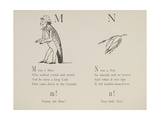 Man and Nut Illustrations and Verses From Nonsense Alphabets Drawn and Written by Edward Lear