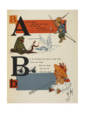 Alphabet Page: a and B an Archer Who Shot at a Frog Bo-Peep and Her Sheep