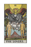 Tarot Card With a Nude Man and Woman