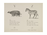 Yak and Zebra Illustrations and Verses From Nonsense Alphabets Drawn and Written by Edward Lear