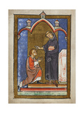 Miniature Of a Monk Healing the Eye Of a Youth by Touching It With Hairs From Cuthbert's Head