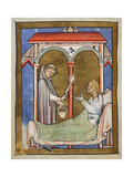The Wife Of an Earl Is Cured  After a Monk Sprinkles Her With Holy Water Sent by St Cuthbert