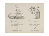 Whale and King Xerxes From Nonsense Alphabets Drawn and Written by Edward Lear