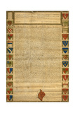 Facsimile Of Burnt Magna Carta