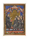 Miniature Of Cuthbert Teaching the Monks in the Monastery Of Lindisfarne