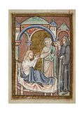 Miniature Of Cuthbert Healing the Wife Of Hildmaer
