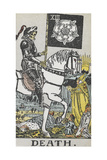 Tarot Card With Death Wearing Armor