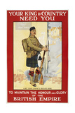 Your King and Country Need You' a Recruitment Poster Showing a Scottish Soldier