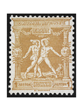 Two Wrestlers Greece 1896 Olympic Games 1 Lepton  Unused