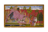 Bibishana Before Rama and Lakshmana